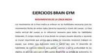 EJERCICIOS BRAIN GYM