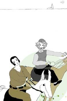 Cap. VII. Primer diálogo de Don Quijote y Sancho