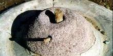 Molino de piedra utilizado en el Alto Atlas, Marruecos