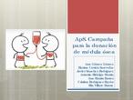 ApS - Campaña para la donación de médula ósea (presentación)
