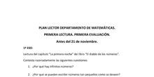 Plan lector Departamento de Matemáticas. 1ª y 2ª evaluación.