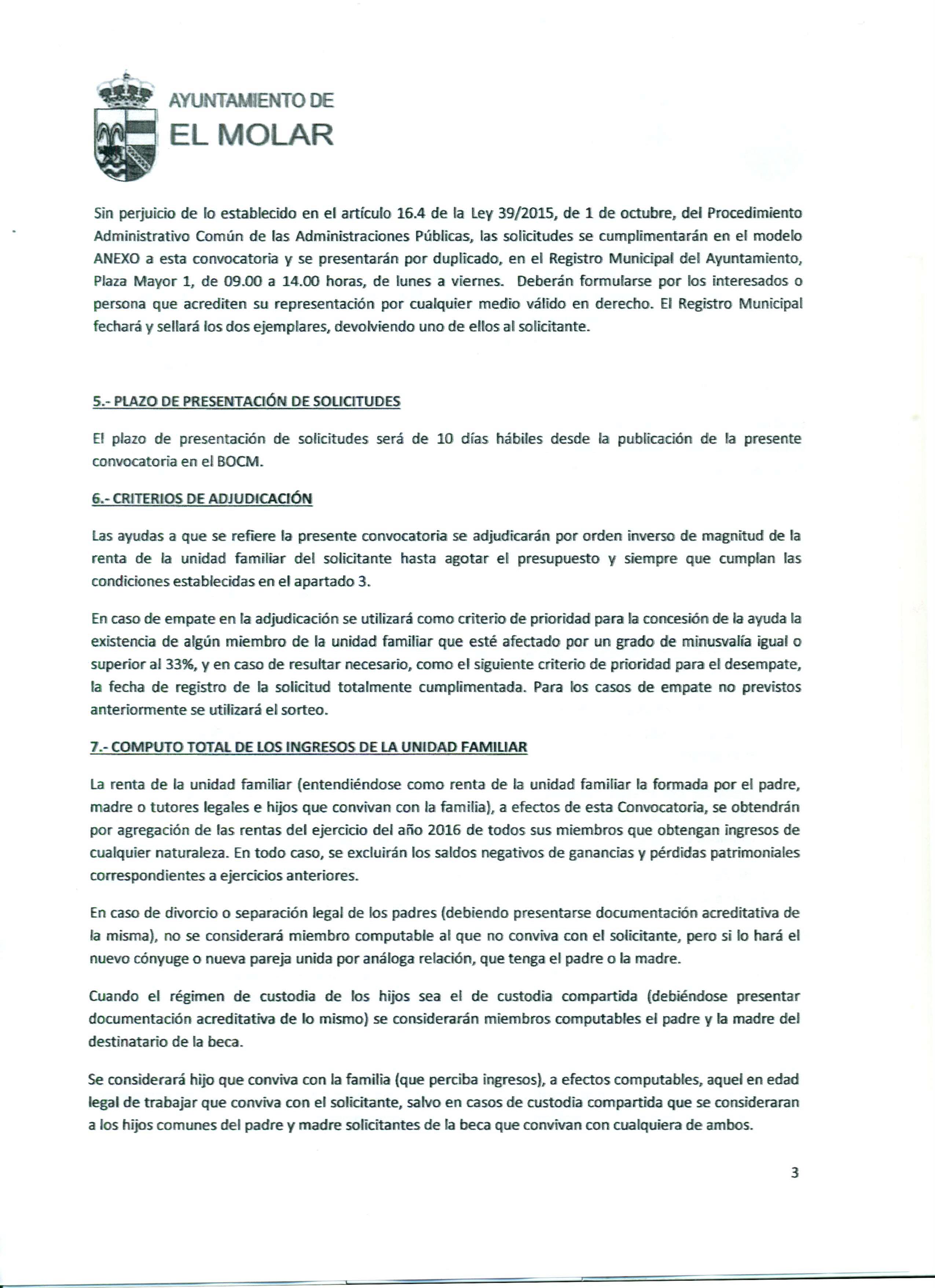 Convocatoria de ayudas económicas, que otorga la Concejalía de Educación del Ayuntamiento de El Molar, para la adquisición de libros de texto para el curso académico 2017-2018 6