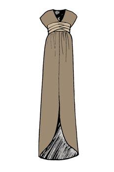 Vestido con jaretas de hombro caido