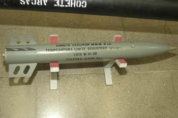 Cohete Oerlikon M.M.M. 8 cm, Museo del Aire de Madrid
