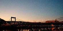 Puente Isabel al atardecer, Budapest, Hungría