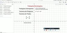 Triangulos. Pitagoras y Thales.