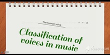 PRIMARIA - CLASIFICATION OF VOICES IN MUSIC - MÚSICA - FORMACIÓN