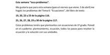 TERCERA ENTREGA TRABAJO 3 ESO MATEMÁTICAS ACADÉMICAS CARLOS MATEO ALEMÁN