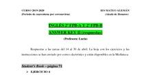 2º FPB inglés - Answer Key II - respuestas tareas del 14 al 30 de abril