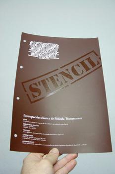 Estampación térmica de película transparente
