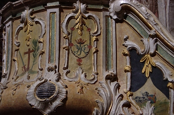 Detalle del púlpito de la Iglesia de Santo Domingo, Huesca
