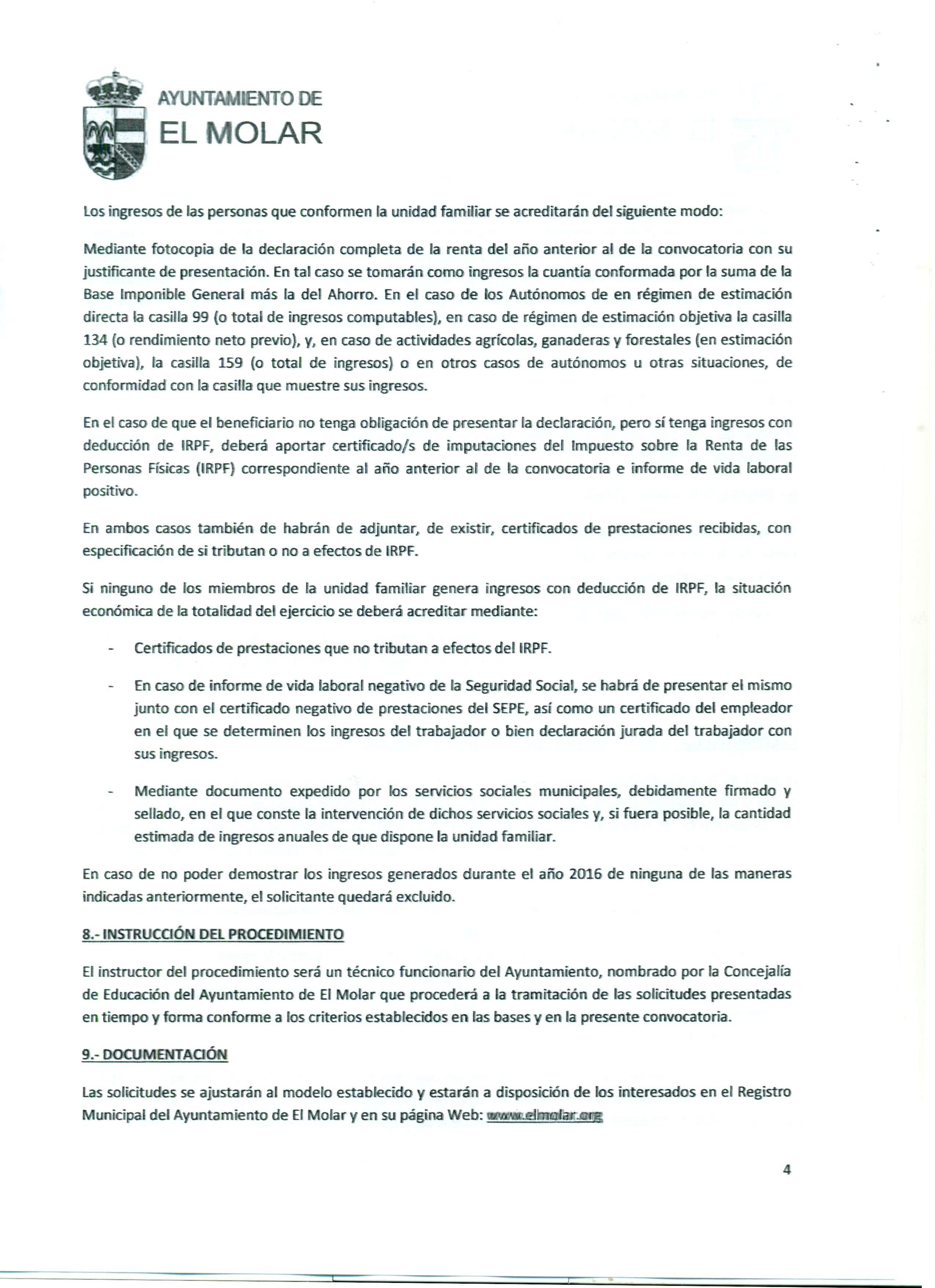 Convocatoria ayudas a libros. Ayuntamiento del Molar 2