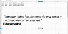 Cómo importar alumnos para hacer una lista de Correoweb de Educamadrid