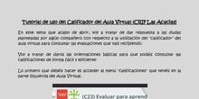 """Tutorial de uso del """"Calificador"""" del Aula Virtual"""