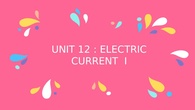 Electric current I