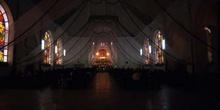 Interior de una iglesia de Sololá, Guatemala