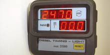 Lámpara estroboscópica diesel. Detalle del display