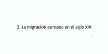 5.2. La migración europea en el siglo XIX