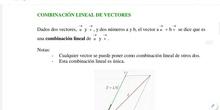 Primero de bachillerato ciencias naturales_ teoría Tema 7_parte 3_ combinación lineal de vectores