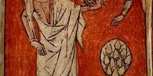 Santa Catalina y la rueda dentada de su martirio, Huesca