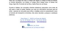 Pleno Infantil 2017_Nota de Prensa_CEIP FDLR_Las Rozas