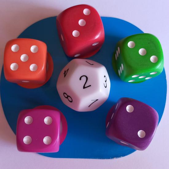 Juego dados: Math dice jr. 1