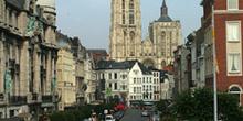 Vista de Amberes desde Suikerrui, Bélgica