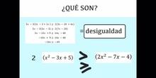 SECUNDARIA - 4º - INECUACIONES - MATEMÁTICAS - JIMENA T., ÁLVARO L., JOSÉ O. y PALOMA C.