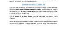 CUARTA Y QUINTA ENTREGA TRABAJO 4 ESO MATEMÁTICAS APLICADAS CARLOS MATEO ALEMÁN