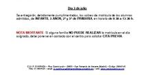 CALENDARIO MATRICULACIÓN. CEIP GUERNICA20-21