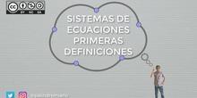 Sistemas de ecuaciones: primeras definiciones