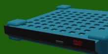 Imagen de la carcasa con el lector/grabador DVD introducido