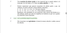 Ecuaciones equivalentes. método de transposición