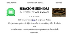 El Señor de los Anillos - Comprensión lectora - Área de Lengua - 5º Primaria