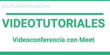 Videoconferencia con Meet
