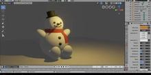 Blender Muñeco de nieve
