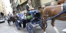 Carroza y turistas, Florencia