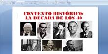 La poesía española en la década de 1940