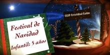 Festival de Navidad. 5 años. Curso 2017/18