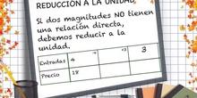 PRIMARIA 6º - REDUCCIÓN A LA UNIDAD - MATEMÁTICAS - FORMACIÓN