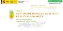Contenidos digitales en el aula en un CEIP y en un IES.