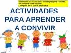 Presentación digital: Recopilación de actividades para mejorar la convivencia