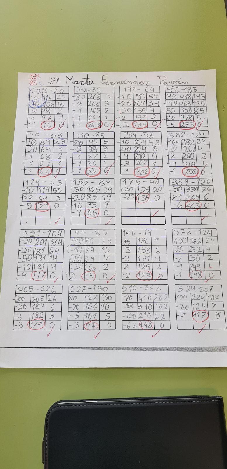 Algoritmos ABN para sumas y restas 5