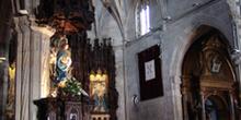 Interior de la Basílica de Santa María, Pontevedra, Galicia