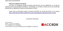 Programa ACCEDE_Normas para el préstamos de libros_CEIP Fernando de los Ríos_Curso 2018-2019