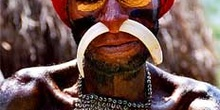 Detalle de hueso en nariz, Irian Jaya, Indonesia