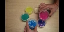 Colores pigmento, mezcla de primarios