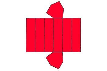 Desarrollo de un prisma ditrigonal