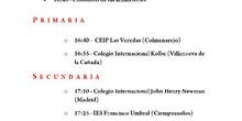 Programa del acto de clausura del XIV Concurso de Coros Escolares de la Comunidad de Madrid 3