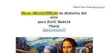 """2ºBACH Historia del Arte """"LISTADO"""" Obras obligatorias EvAU 2020-2021"""